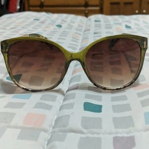Green and Gold Tahari Sunglasses